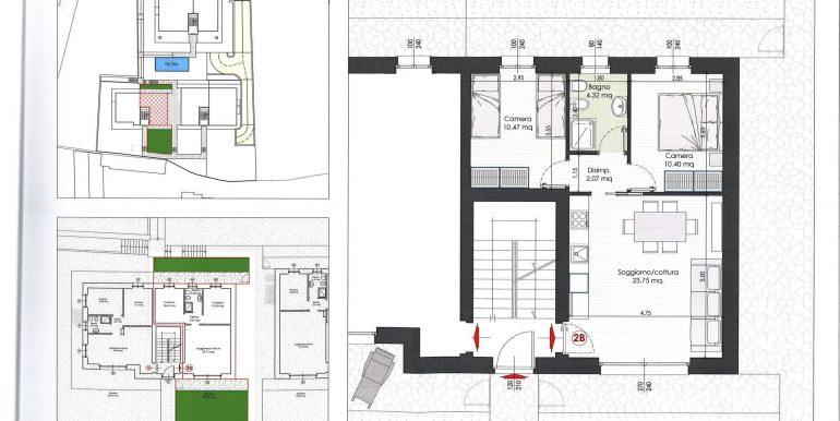 Lake Como Tremezzina Apartments with pool - plan 2b