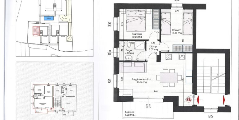 Lake Como Tremezzina Apartments with pool - plan 5b