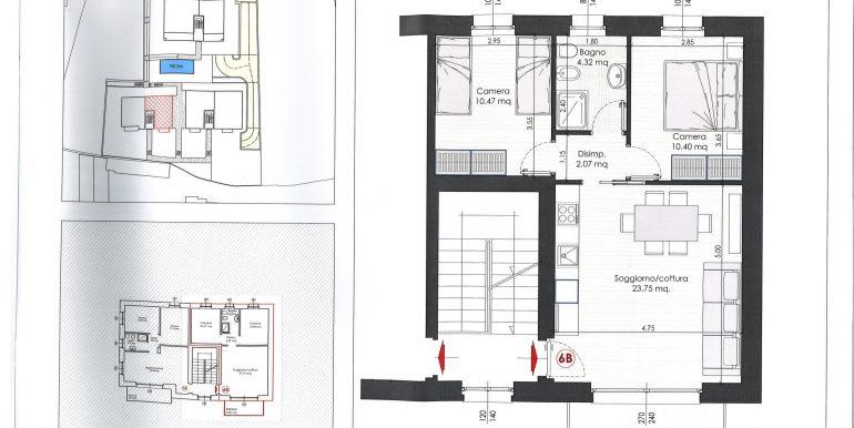 Lake Como Tremezzina Apartments with pool - plan 6b