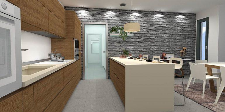Kitchen - Lake Como residence