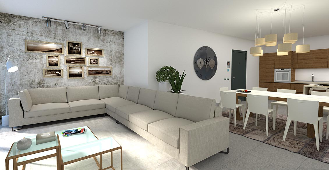 Cremia Apartments in residence with swimming pool, terraces and lake view