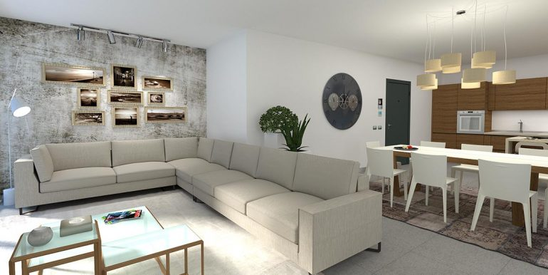 Cremia Apartments in residence with swimming pool - Living room