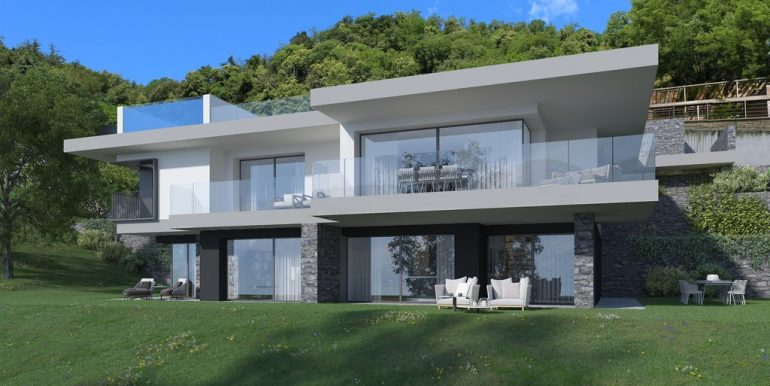 Modern Apartments Domaso with Lake View with pool