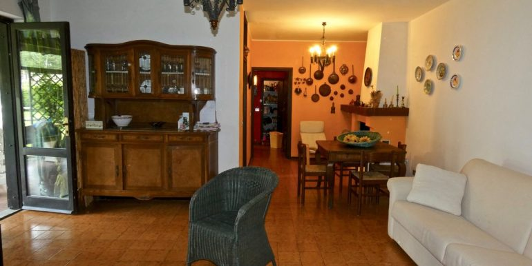 Apartment Domaso - living room with fireplace