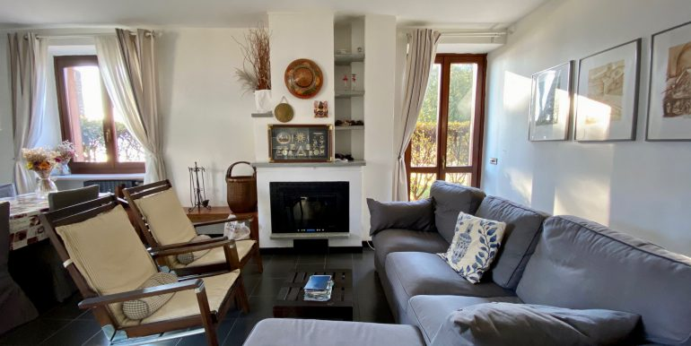 Apartment Directly on Lake Como Domaso - living room