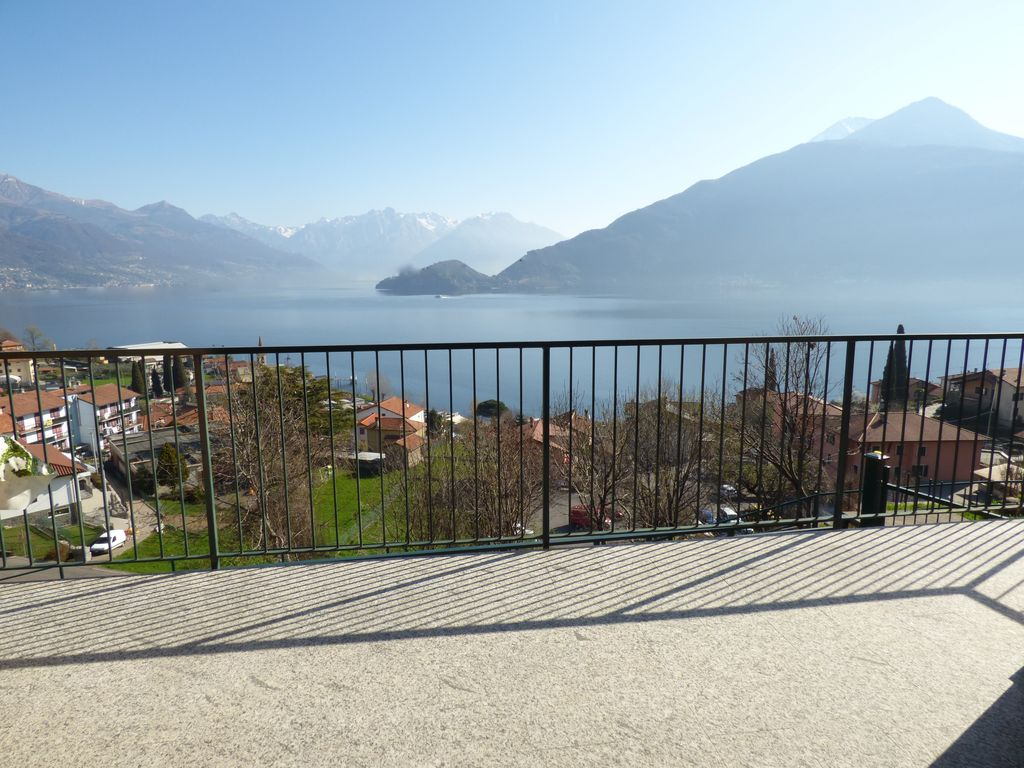 Apartment pianello del lario with terrace and lake view for 300 lake terrace