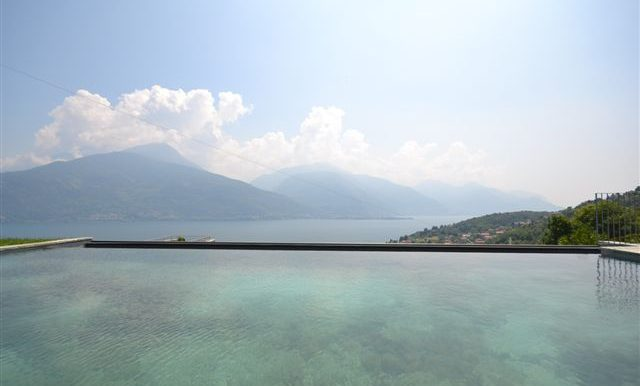 amazing lake view from swimming pool - balcony and terrace