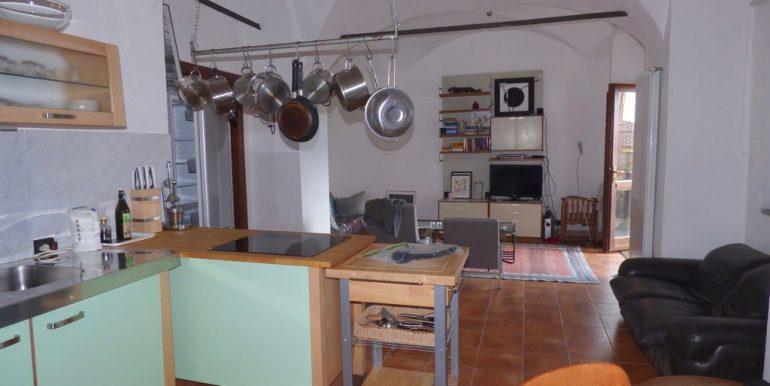 San Siro Apartment - living room and kitchen