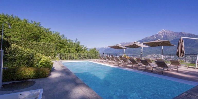 Apartment Lake Como Residence with Pool Domaso  - solarium