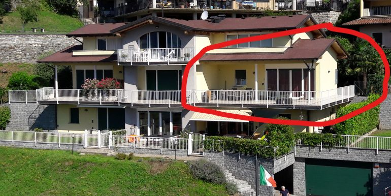 Apartment with Terrace and Lake View Domaso with garden