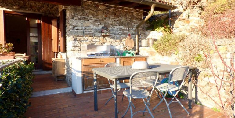 Lake Como Domaso Stone House - covered veranda
