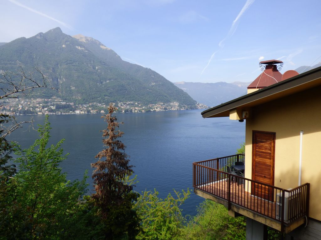 Front Lake Como Faggeto Lario Villa With Pool Lake View