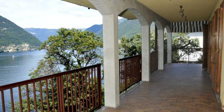 Front Lake Como Faggeto Lario Villa with Pool