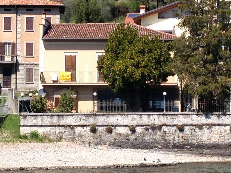 Lake Como Domaso House Front Lake