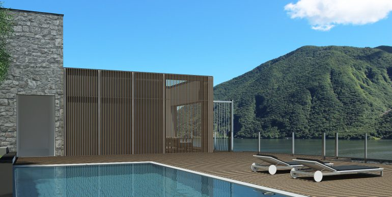 Swimming pool of residence in Cremia