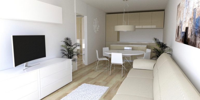 Apartments in Modern Residence Lake Como Domaso  - living room