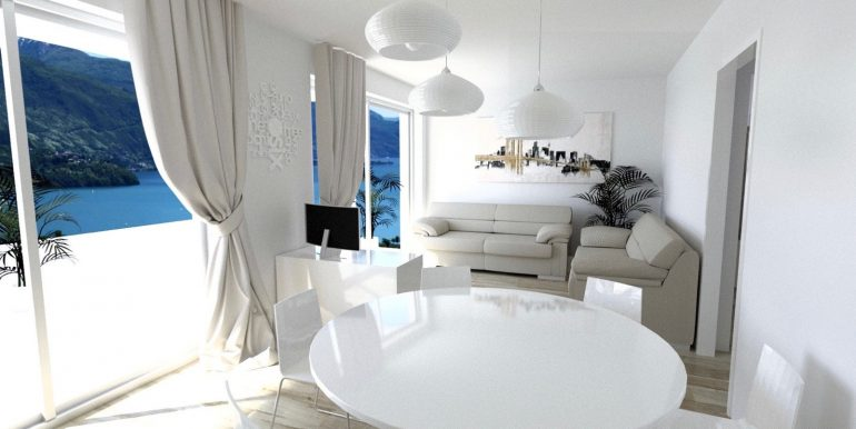 Apartments in Modern Residence Lake Como Domaso sunny location