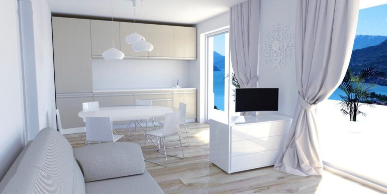 Apartments in Modern Residence Lake Como Domaso luxury finsihes