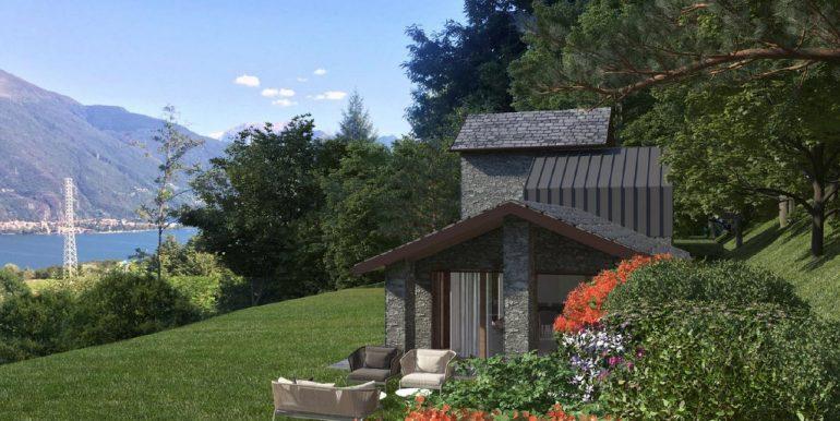 Pianello Lario Renovated House Lake View