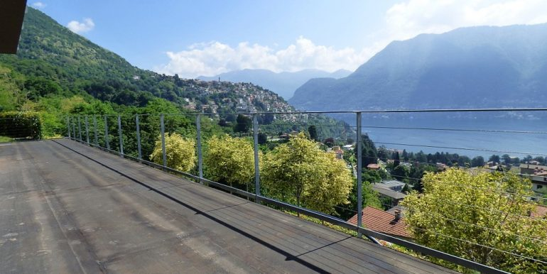 Terrace with lake Como view