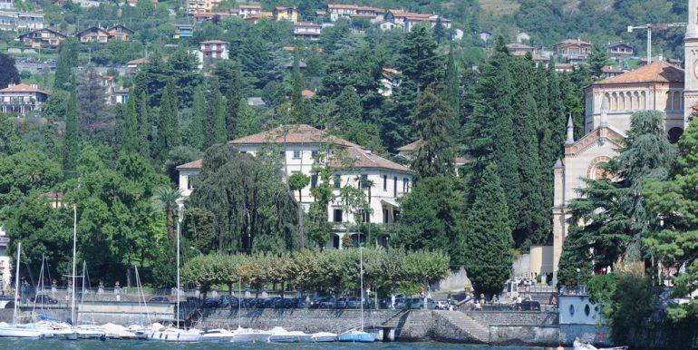 Lake Como villa from lake