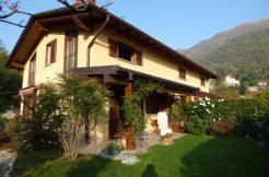 Lake Como Argegno villa with garden and lake view