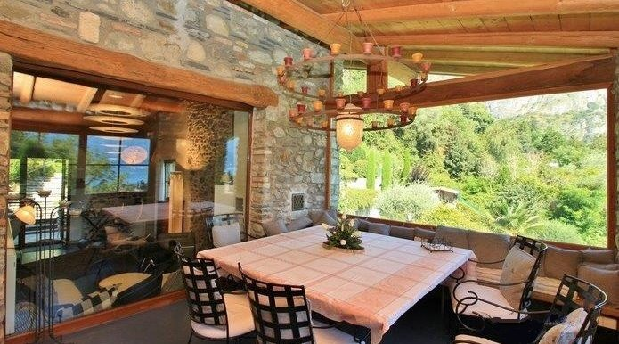 Covered TerraceRustico Griante with garden, swimming pool and lake view