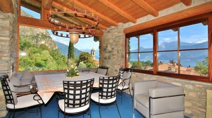 Rustico Griante with garden - Terrace with lake view