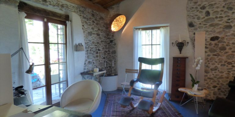 Room - Rustico Griante with garden, swimming pool and lake view