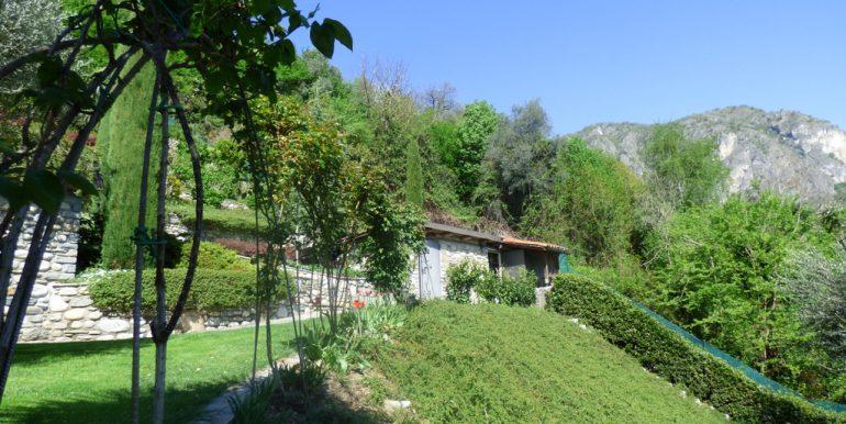 Griante with garden, swimming- rustico