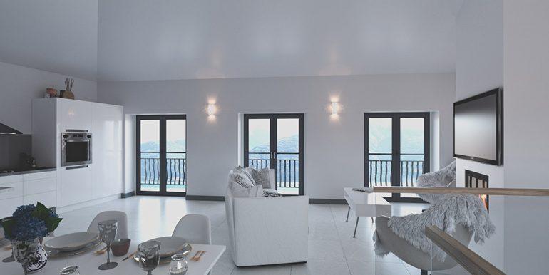Villa Lake Como San Siro Front Lake with terrace - Living room