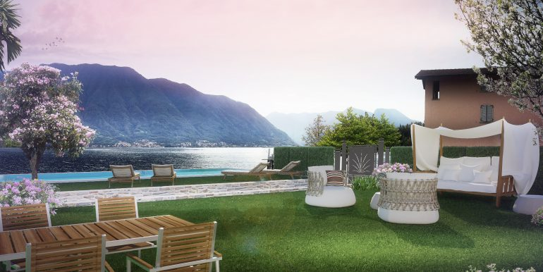 luxury- Lenno apartment- garden