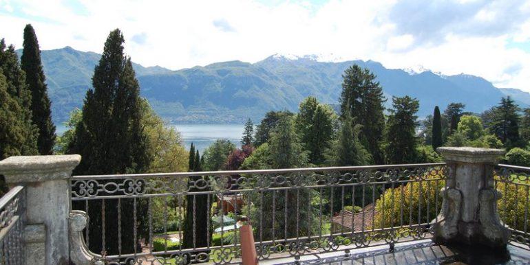 Lake Como view from terrace in period villa