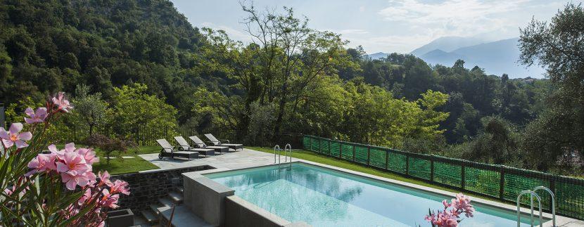 lake como villa - swimming pool