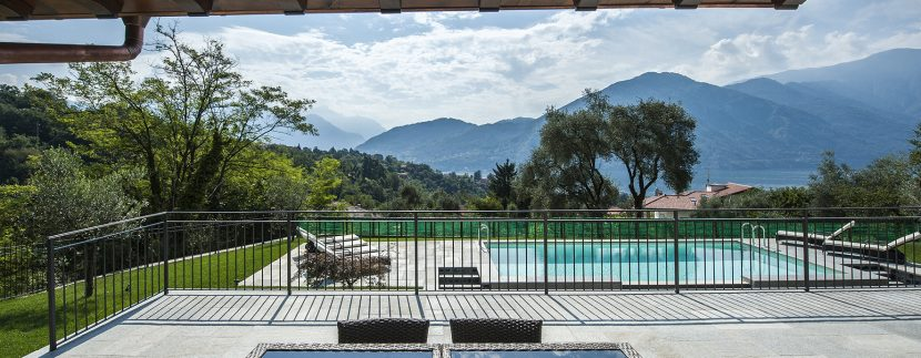 terrace and lake view in villa Tremezzo