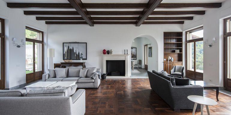 Tremezzo detached villa with swimming pool - Living room