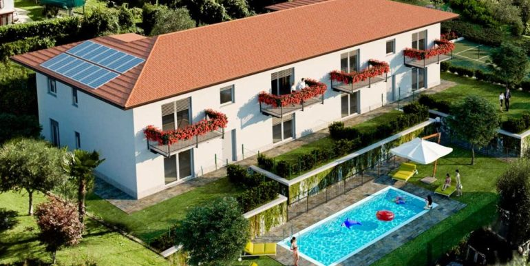 Apartments in Residence with swimming pool and lake view
