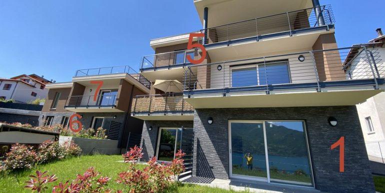 Modern apartments Lake Como Pianello del Lario - numeri