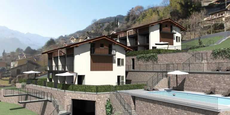 Apartments Domaso Residence with Swimming Pool and terrace
