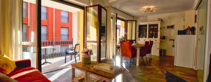 Apartment San Siro - living room and terrace