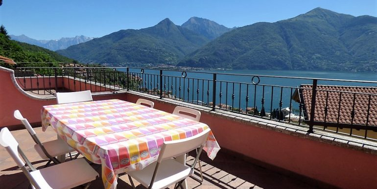 Terrace with lake Como view from San Siro