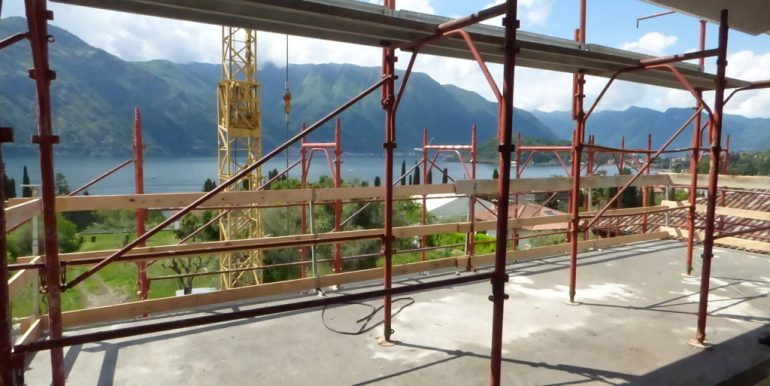 Apartments  under construction Tremezzo with terrace and lake view