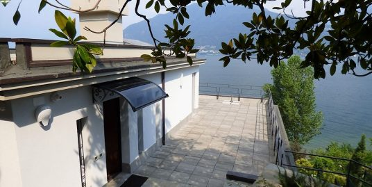 Front Lake Villa Pianello del Lario with Swimming pool