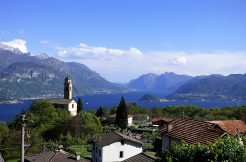 Amazing Plesio village and lake Como view