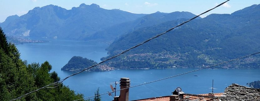 Lake Como view from property