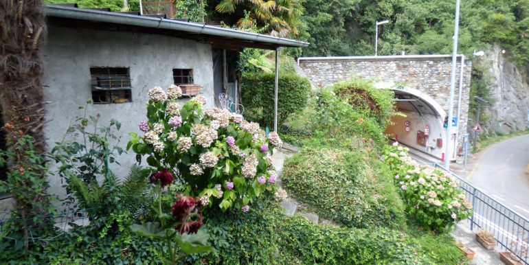 Menaggio Lake como view and garden