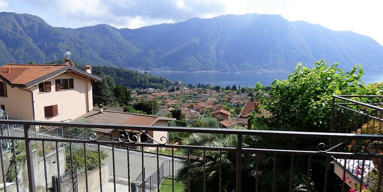 Lake Como view from terrace in  Lenno