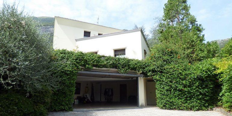 Garage in villa with park
