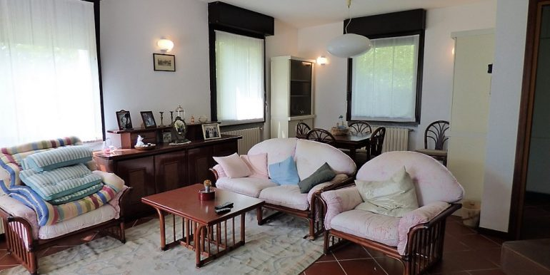 Detached Villa Tremezzo with park, terrace and lake view- Living room