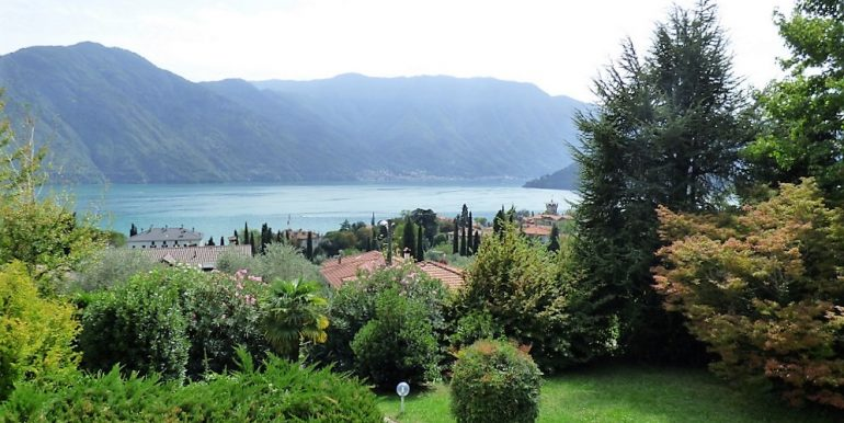 Lake Como view from villa in Tremezzo